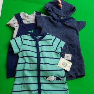 Boys 3pc Outfit Lot Carter's Little Me Dino 3 Mo